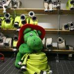 Grisu der kleine Drache zu Gast bei der Feuerwehr Florstadt